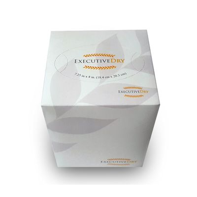"Nittany Paper NP-CFT-3685 Executive Dry Premium Facial Tissue, 85 Sheets / Cube Box, 7.25"" x 8"" - 36 / Case"