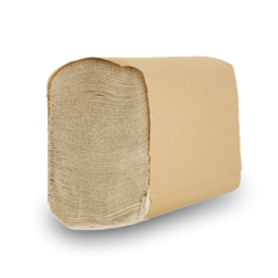 "Nittany Paper Mills NP-MFN4000 Multifold Paper Hand Towels, 9.25"" x 9.5"", Natural Brown - 4000 / Case"