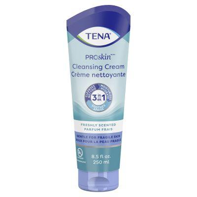 TENA 64425 ProSkin Cleansing Cream, Rinse-Free Body Wash, Mild Scent, 8.5 oz Tube - 10 / Case