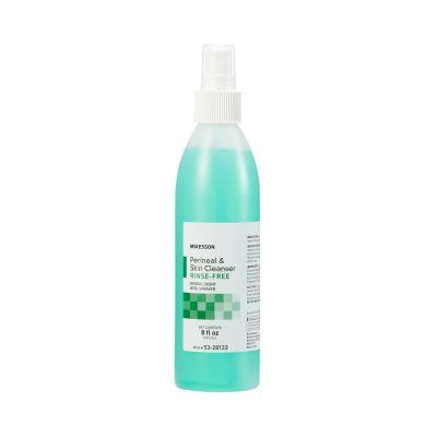 McKesson 53-28133 No-Rinse Perineal Wash & Skin Cleanser, Liquid, Herbal Scent, 8 oz Spray Bottle - 48 / Case