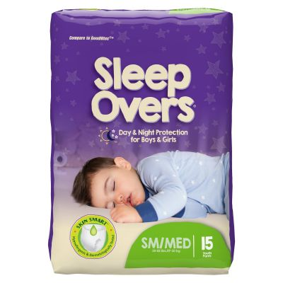 First Quality SLP05301 Sleep Overs Absorbent Overnight Underwear, Youth Unisex, Small / Medium (45 to 65 lbs), Heavy Absorbency - 60 / Case