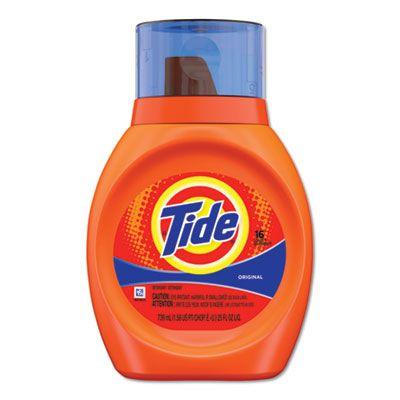 P&G 13875 Tide Original Liquid Laundry Detergent, 25 oz Bottle - 6 / Case