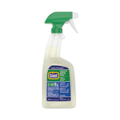 P&G 19214 Comet Disinfecting-Sanitizing Bathroom Cleaner, Citrus Scent, 32 oz Spray Bottle - 6 / Case