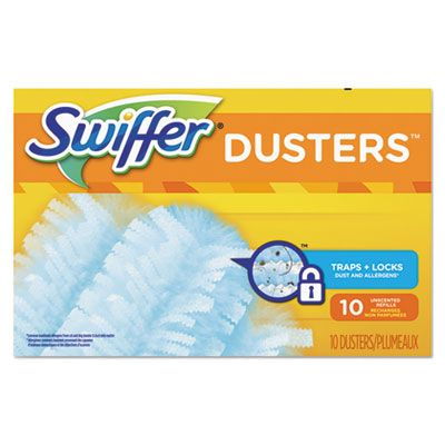 P&G 21459 Swiffer Duster Refill Heads, 10 / Box, Light Blue - 4 / Case