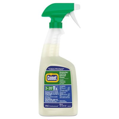 P&G 22569 Comet Disinfecting - Sanitizing Bathroom Cleaner, 32 oz Spray Bottle - 8 / Case