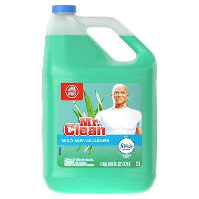 P&G 23124 Mr. Clean Multi-Surface Cleaner with Febreze, Meadows & Rain Scent, 1 Gallon - 4 / Case