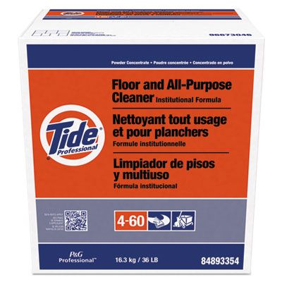 P&G 2364 Tide Professional Floor and All-Purpose Cleaner, Powder, 36 lb Box - 1 / Case
