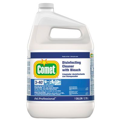 P&G 24651 Comet Disinfecting Cleaner with Bleach, 1 Gallon Bottle - 3 / Case