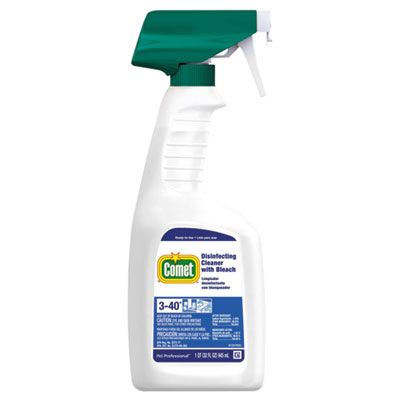 P&G 30314 Comet Disinfecting Cleaner with Bleach, 32 oz Spray Bottle - 8 / Case