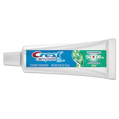 P&G 40162 Crest Complete Whitening Toothpaste with Scope, Minty Fresh Flavor, 0.85 oz Tube - 72 / Case