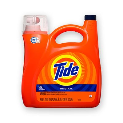 P&G 40365 Tide HE Liquid Laundry Detergent, Original Scent, 96 Loads, 138 oz Pump Bottle - 4 / Case