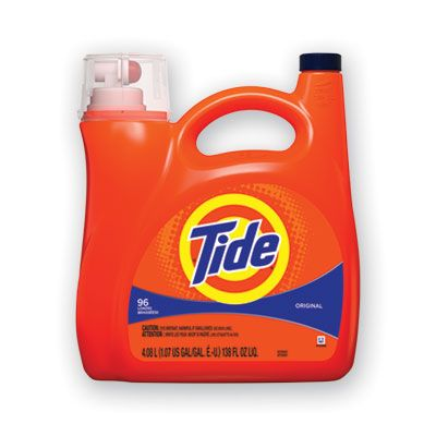 P&G 40367 Tide Original Liquid Laundry Detergent, 96 Loads, 138 oz Pump Bottle - 4 / Case
