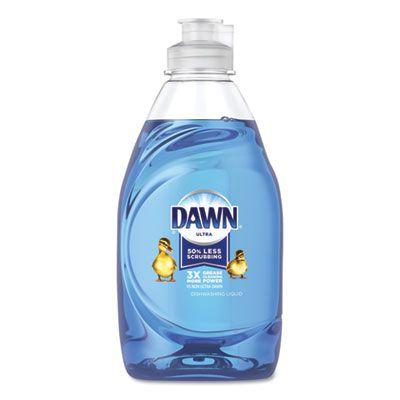 P&G 41134 Dawn Ultra Liquid Dish Detergent Soap, 7 oz Bottle, Blue - 18 / Case