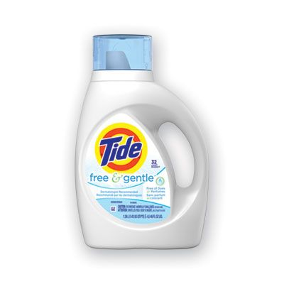 P&G 41823 Tide Free & Gentle Liquid Laundry Detergent, 32 Loads, 46 oz Bottle - 6 / Case