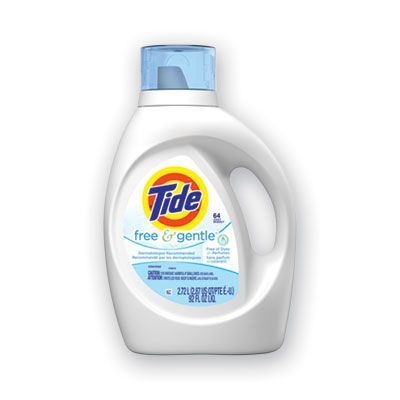 P&G 41829 Tide Free & Gentle Liquid Laundry Detergent, 64 Loads, 92 oz Bottle - 4 / Case
