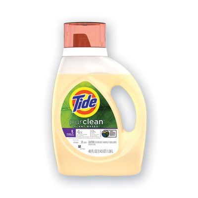 P&G 42046 Tide PurClean Liquid Laundry Detergent, 32 Loads, Honey Lavender Scent, 46 oz Bottle - 6 / Case