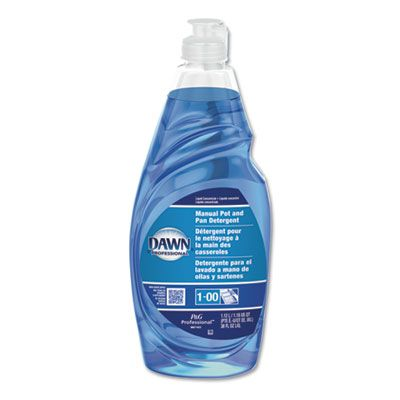 P&G 45112 Original Dawn Blue Dish Soap Liquid, 38 oz Bottle - 8 / Case