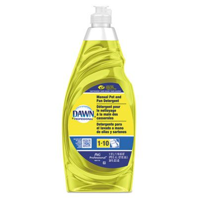 P&G 45113 Dawn Lemon Dishwashing Detergent Liquid, 38 oz Bottle, Yellow - 8 / Case