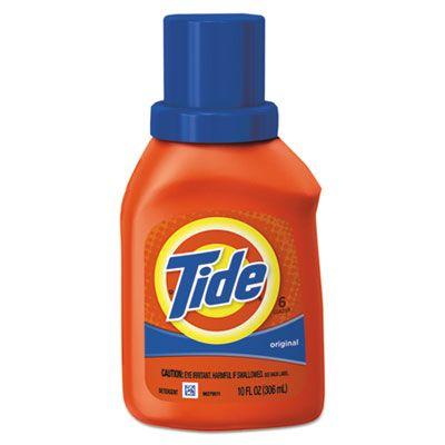 P&G 471 Tide Liquid Laundry Detergent, Original Scent, 10 oz Bottle - 12 / Case