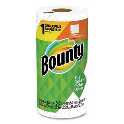 P&G 47796 Bounty Paper Towels, 2 Ply 54 Sheets / Kitchen Roll, White - 24 / Case