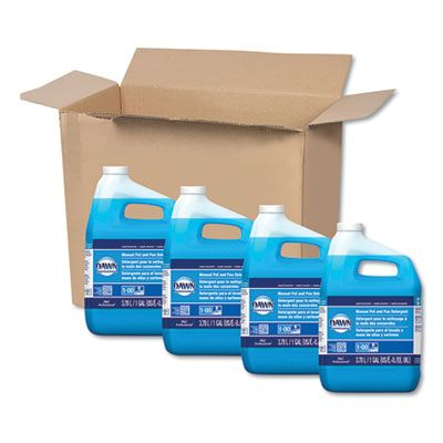 P&G 57445 Dawn Original Blue Dish Soap Liquid, 1 Gallon Bottle - 4 / Case