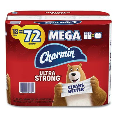 "P&G 61079 Charmin Ultra Strong Toilet Paper, 2 Ply, 4"" x 3.92"", 264 Sheets / Roll, White - 18 / Case"