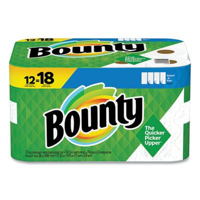 """P&G 65538 Bounty Select-a-Size Paper Towels, 2 Ply, 5.9"""" x 11"""", 74 / Roll, White - 12 / Case"""