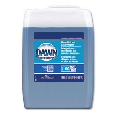P&G 70681 Dawn Manual Pot/Pan Dish Detergent, 5 Gallon Cube, Blue - 1 / Case