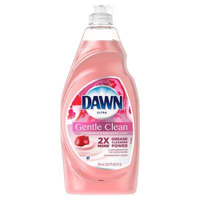 P&G 74093 Dawn Ultra Gentle Liquid Liquid Dish Soap, 24 oz, Pomegranate Splash Scent, Pink - 10 / Case