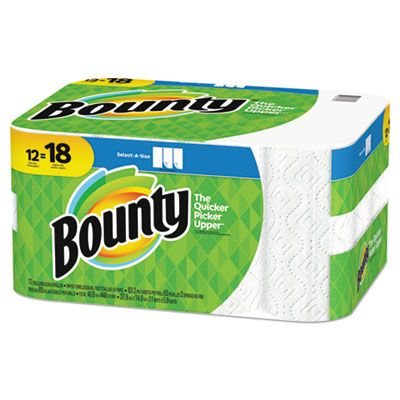 P&G 74795 Bounty Select-a-Size Kitchen Paper Towel Rolls, 83 Sheets / Roll - 12 / Case