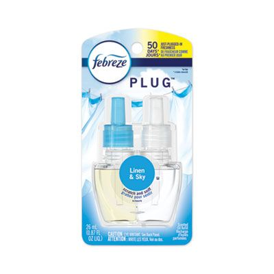 P&G 74901 Febreze PLUG Air Freshener Scented Oil Refill, Linen and Sky Scent, 0.87 oz - 6 / Case