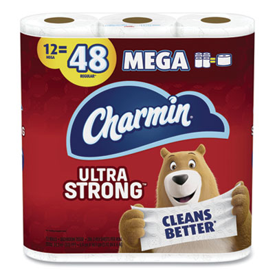 P&G 61071 Charmin Ultra Strong Toilet Paper, 2 Ply, 286 Sheets / Standard Roll, White - 48 / Case