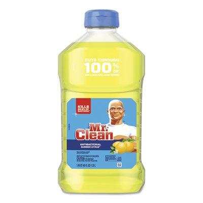P&G 77131 Mr. Clean Multi-Surface Antibacterial Cleaner, Summer Citrus Scent, 45 oz Bottle - 6 / Case