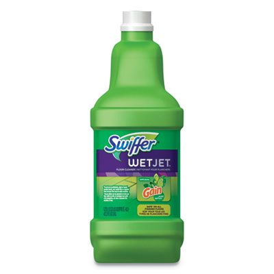 P&G 77809 Swiffer WetJet System Cleaning Solution Refill, Original Scent, 1.25 Liter Bottle - 4 / Case