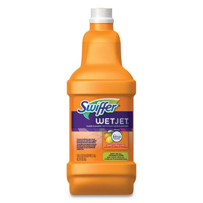 P&G 77812 Swiffer WetJet System Cleaning Solution Refill, Citrus Scent, 1.25 Liter Bottle - 4 / Case