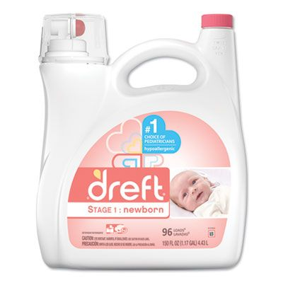 P&G 80377 Dreft Liquid Laundry Detergent, Stage 1: Newborn, Baby Powder Scent, 150 oz Bottle - 4 / Case