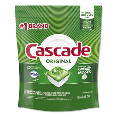 P&G 80675 Cascade Original Automatic Dishwasher Detergent, Fresh Scent, 25 ActionPacs / Pack - 5 / Case