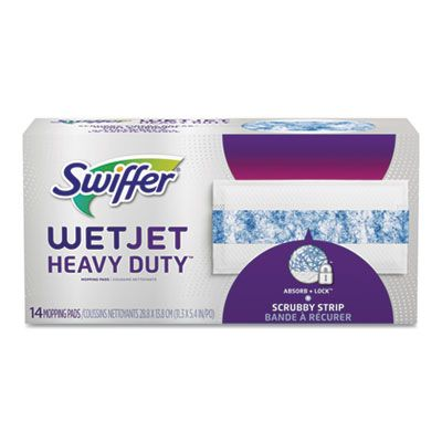 P&G 81790 Swiffer Wet Jet Pad Refills, 14 / Pack, White / Blue - 4 / Case