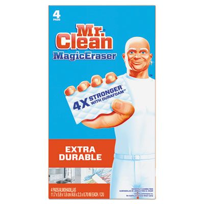 "P&G 82038 Mr. Clean Magic Eraser Cleaning Pad, Extra Durable, 4.6"" x 2.4"", White - 32 / Case"