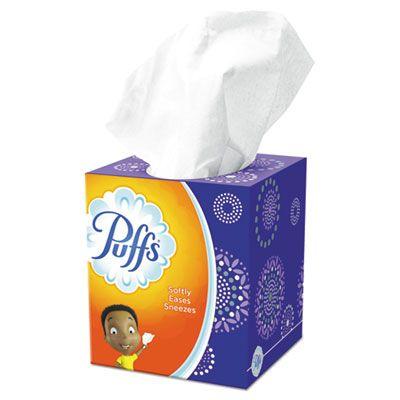 P&G 84405 Puffs Facial Tissue, 2 Ply, 64 Sheets / Box, White - 24 / Case