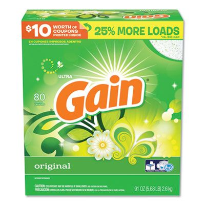 P&G 84910 Gain Laundry Detergent Powder, Original Scent, 91 oz Box - 3 / Case