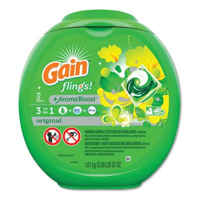 P&G 86792 Gain Flings Laundry Detergent Pods, 72 / Container - 4 / Case