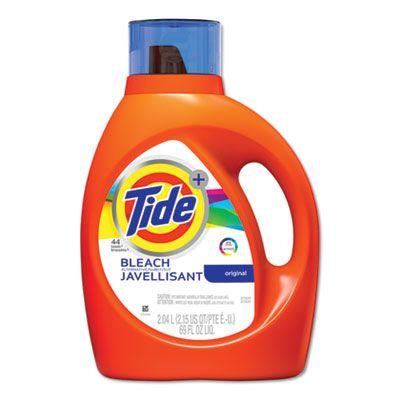 P&G 87545 Tide Laundry Detergent Liquid plus Bleach Alternative, Original Scent, 44 Loads, 69 oz Bottle - 4 / Case