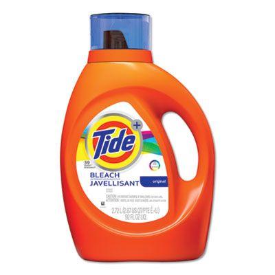 P&G 87546 Tide Laundry Detergent Liquid plus Bleach Alternative, Original Scent, 92 oz - 4 / Case