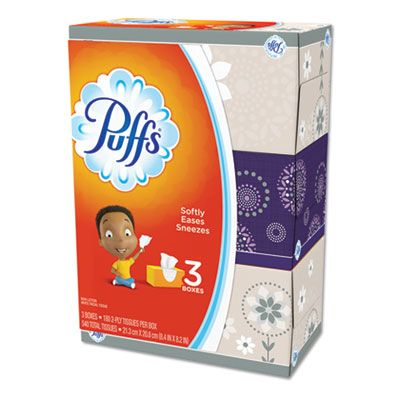 P&G 87615 Puffs Facial Tissue, 2 Ply, 180 Sheets / Pack, White - 8 / Case