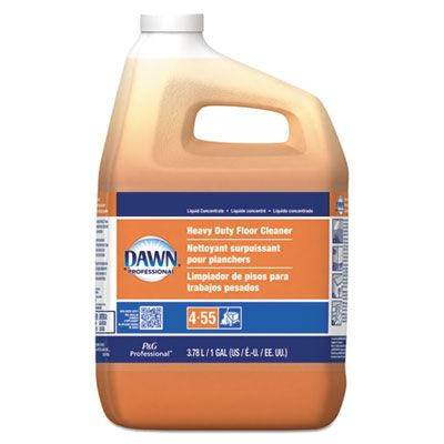 P&G 8789 Dawn Professional Heavy Duty Floor Cleaner, Neutral Scent, 1 Gallon Bottle - 3 / Case