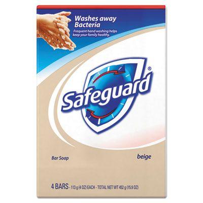 P&G 08833 Safeguard Deodorant Bar Soap, Light Scent, 4 oz - 48 / Case