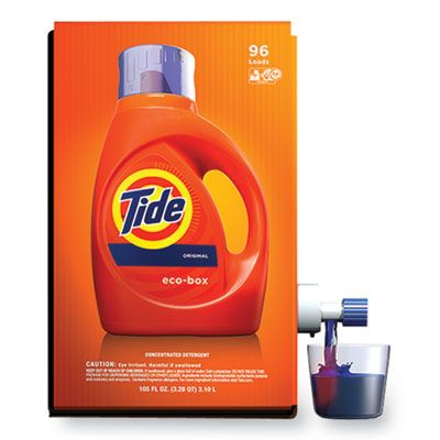 P&G 89013 Tide Eco-Box HE Laundry Detergent Liquid, Original Scent, 105 oz Bag in a Box - 1 / Case