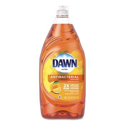P&G 91092 Dawn Ultra Antibacterial Liquid Dish Detergent Soap, 40 oz Bottle, Orange - 8 / Case