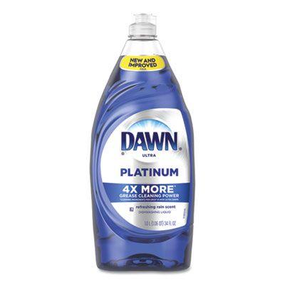 P&G 91200 Dawn Ultra Platinum Dishwashing Detergent Liquid, Refreshing Rain Scent, 34 oz Bottle - 8 / Case